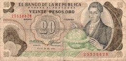 COLOMBIA  20 PESOS ORO  1974  P-409c - Colombia
