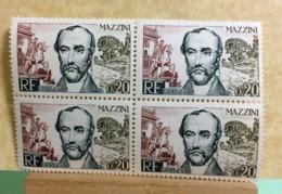Mazzini (Bloc 4val) 1963 Neuf (Y&T N°1384) - Coté 2€ (Tous De Bonne Qualité Garantie) - Neufs