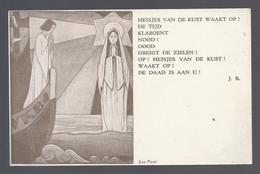 MEISJES VAN DE KUST WAAKT OP ! ILLUSTRATIE LEO PARET UITG. V.K.B.J. KUSTACTIE TIELT - Christendom