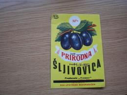 Prirodna Sljivovica Zrenjanin - Labels