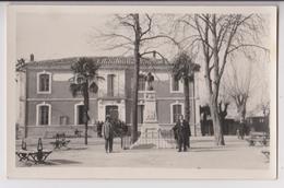CARTE PHOTO DE LATTES (34): LE MONUMENT AUX MORTS 1914 -1918 SURMONTE D'UN COQ - CLICHE RARE - ECRITE 1925 -z 2 SCANS Z- - Autres Communes