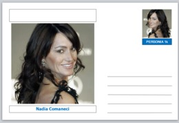 "Personalities - Souvenir Postcard (glossy 6"" X 4"" [15cm X 10cm] Card) - Nadia Comaneci SPORT GYMNASTICS - Famous People"