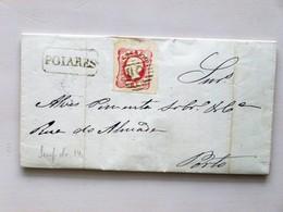 PORTUGAL - 1866, Faltbrief, POIARES > PORTO, Mit Text, Absender = Prägedruck: ANTONIO HENRIQUES, POIARES - 1862-1884 : D.Luiz I