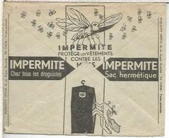 BELGICA SOBRE CHEQUES POSTALES 1936 INSECTO POLILLA ROPA TEXTIL MOTH - Other