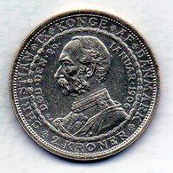 DENMARK, 2 Kroner, Silver, Year 1906, KM #803 - Denemarken