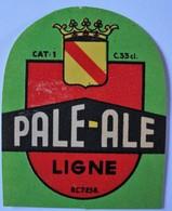 Rare étiquette. Brasserie Du Lion à Tournai (Section Ligne) . Pale-Ale. - Tournai