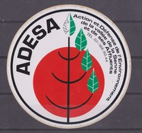 Autocollant, Action Et Défense De L'environnement De La Vallée De La Senne Et De Ses Affluents. - Stickers
