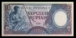 # # # Banknote Indonesien (Indonesia) 10 Rupiah 1959 UNC # # # - Indonesien