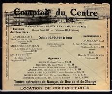 Brief Van Comptoir Du Centre Naar Ciney - Belgique