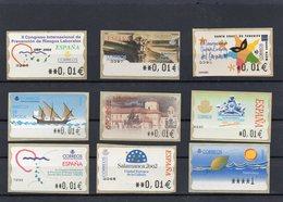 N.° 995/62 ESPAGNE LOT DE 9 TIMBRES DISTRIBUTEURS - Poststempel - Freistempel