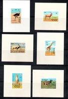EPREUVE FEUILLET - SERIE YT 449 / 454 MI 633 / 638 LUXE - ANIMAUX EN VOIE DE DISPARITION WWF - Niger (1960-...)