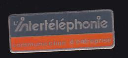 61303-Pin's-intertelephonie.telecommunications.. - Telecom De Francia