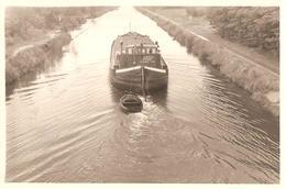 4x Photo Foto (6 X 9 Cm) Boot Bateau (Rita Steendorp) Péniche Binnenvaartschip Kanaal Canal - Bateaux