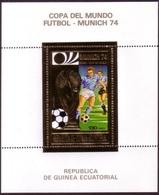 Soccer Football Equatorial Guinea Bl 80 MNH ** 1974 World Cup In Germany - Coppa Del Mondo