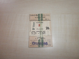 Ancien Ticket SNCF - Europe