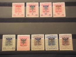 ALBANIA - 1920 Wied Soprast. Aquila 9valori(il 2su10 Con Alcuni Denti Corti) - NUOVI(+) - Albania