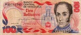 VENEZUELA 100 BOLIVARES 1980 P-59 - Venezuela