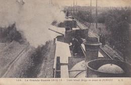 Train Blindé Belge En Avant De Furnes - Guerre 1914-18