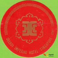 Voyo OBEROI IMPERIAL  HOTEL Singapore  Hotel Label  Sticker 1980s Vintage - Hotel Labels