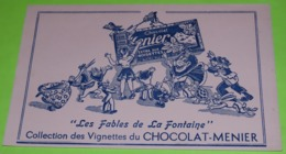 BUVARD - FABLE DE LA FONTAINE - Pub Pour L'album Collecteur - 21.5 X 13.5 - PUB Chocolat MEUNIER - Très Bon état / 225 - Alimentare