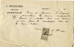 Granville. Pêche à Terre Neuve. Document D'avance Sur Salaire De Jacques Regnard, Armateur De La Reine Victoire - Non Classés