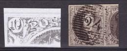 N° 6 Margé VARIETE DOUBLE FRAPPE Planche I - 1851-1857 Medaillen (6/8)