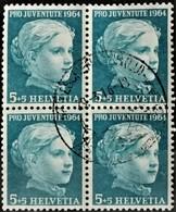 1964 Pro Juventute Mädchenbildnis Viererblock MiNr: 803 - Pro Juventute