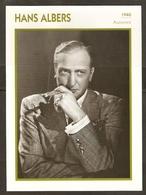 PORTRAIT DE STAR 1940 ALLEMAGNE - ACTEUR HANS ALBERS - GERMANY ACTOR CINEMA FILM PHOTO - Fotos