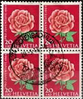 1964 Pro Juventute Rose Viererblock MiNr: 805 - Pro Juventute