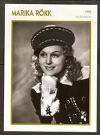 PORTRAIT DE STAR 1940 ALLEMAGNE - ACTRICE MARIKA ROKK - GERMANY ACTRESS CINEMA FILM PHOTO - Fotos