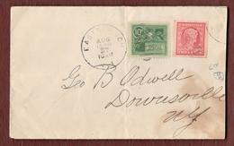 USA Special Delivery 1909 In Mischfrankatur - Briefe U. Dokumente