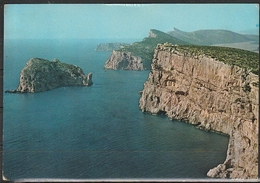 Cartolina - Alghero - Capo Caccia E Isola Foradada  - Viaggiata 1975 - Sassari