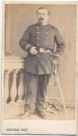 CDV Portrait D'un Officier De La Garde Nationale (second Empire) Par Gratieux à  Largentière (Ardèche) - 1 - Guerre, Militaire