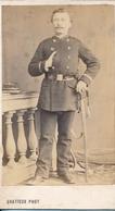 CDV Portrait D'un Officier De La Garde Nationale (second Empire) Par Gratieux à  Largentière (Ardèche) - 2 - Guerre, Militaire