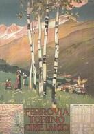 Pubblicitari - Le Vacanze Degli Italiani - Ferrovia Torino Ciriè Lanzo 1913 - - Pubblicitari