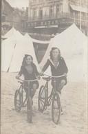CPA-PHOTO Carte-Photo (85) LES SABLES D' OLONNE Jeunes Filles Bicyclette Cycliste Vélo Cycling Radsport  (2 Scans) - Cycling