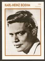 PORTRAIT DE STAR 1950 ALLEMAGNE - ACTEUR KARL HEINZ BOEHM - GERMANY ACTOR CINEMA FILM PHOTO - Fotos