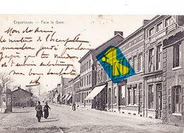 ERQUELINNES - Face La Gare - Carte Circulé En 1910 - Erquelinnes