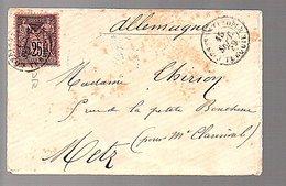 CONSTANTINOPLE TURQUE > 1879 BLUE 'METZ EINGEGANGEN' (21) - Levant (1885-1946)