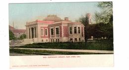 SAN JOSE, California, USA, Carnegie Library, Pre-1908 UB Mitchell Postcard - San Jose