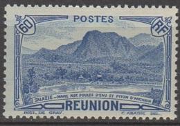 Reunion 1939 Piton D'anchain 60c Bleu  YT 166 Neuf ** Gomme Altérée - Ongebruikt