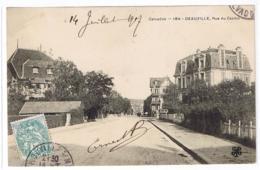 CPA V RR - 14 - DEAUVILLE Sur MER Le 14 07 1907 -  La Rue Du CASINO - Trèfle MTIL 184 - Deauville