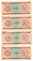 Cuba 5 Pesos, Series A,  X 4 , Used Lot , See Scan. - Cuba