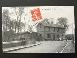 CPA Du 19 Juin 1908 Rousies Place De La Gare Nombreux Enfants - France