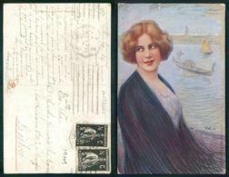 OF [ 19709 ] - Litho Art Nouveau Stampa N° 2708 - 6 ILLUSTRATEUR GUERZONI FEMME VENICE VENEZIA - Guerinoni