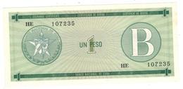 Cuba 1 Peso, FEC, Series B.  UNC. - Cuba