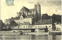 CPA DE AUXERRE  (YONNE)  LA CATHEDRALE, LA PREFECTURE ET LES QUAIS - Auxerre