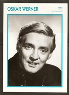 PORTRAIT DE STAR 1965 ALLEMAGNE - ACTEUR OSKAR WERNER - GERMANY ACTOR CINEMA FILM PHOTO - Fotos