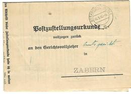 STRASSBURG (Els) 1 Ab - 16.9.1942 - Certificat De Remise (Poststellungsurkunde) En Franchise - Marcophilie (Lettres)