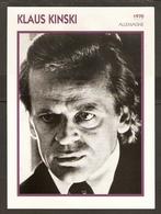 PORTRAIT DE STAR 1970 ALLEMAGNE - ACTEUR KLAUS KINSKI - GERMANY ACTOR CINEMA FILM PHOTO - Fotos
